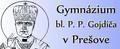 logo Gymnázium bl. Petra Pavla Gojdiča, Bernolákova 21, Prešov