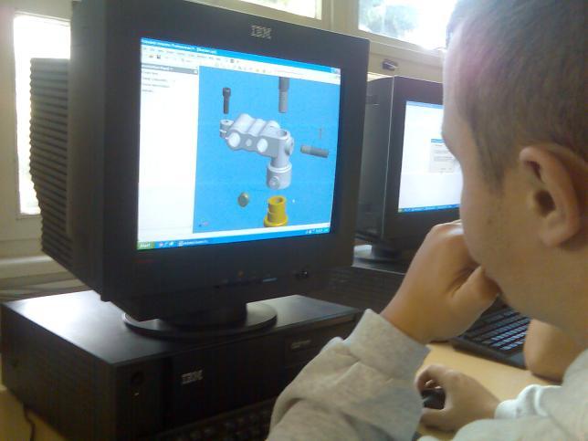 Navrhovanie súčiastok a zariadení v strojárskych odboroch v Autocad 3D Inventor