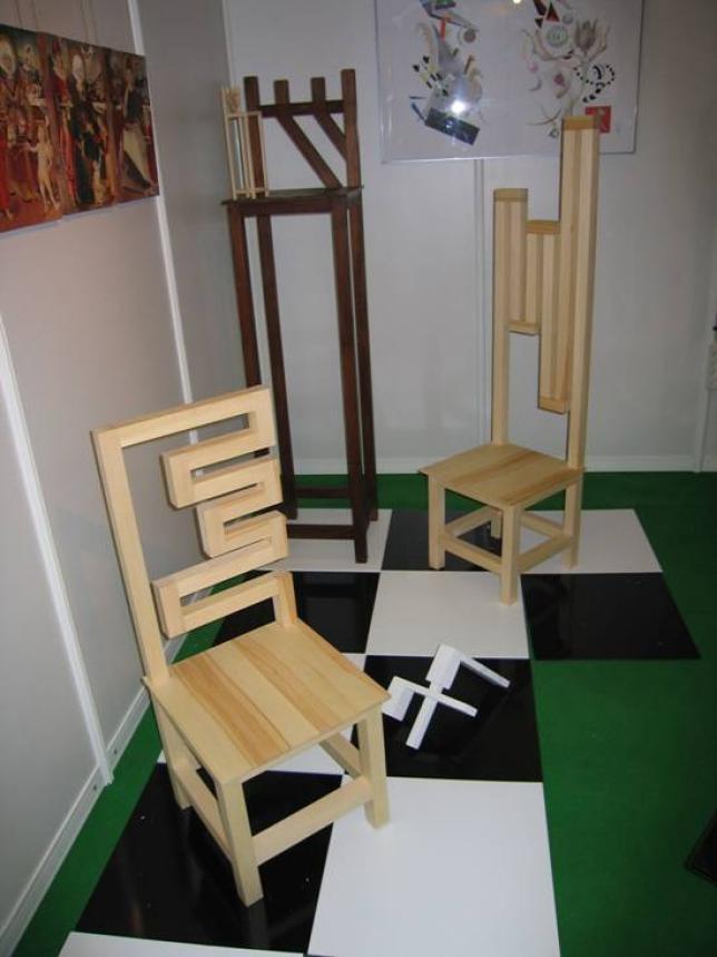 Práce žiakov - tvorba nábytku a interiéru