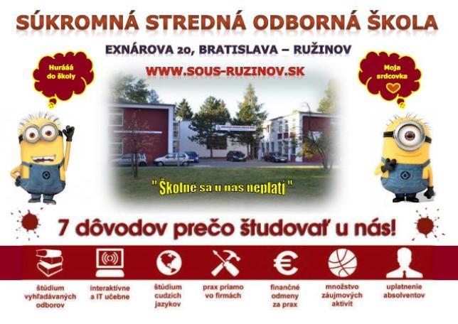 Ponuka odborov SOŠ Exnárova 20 Bratislava - Ružinov