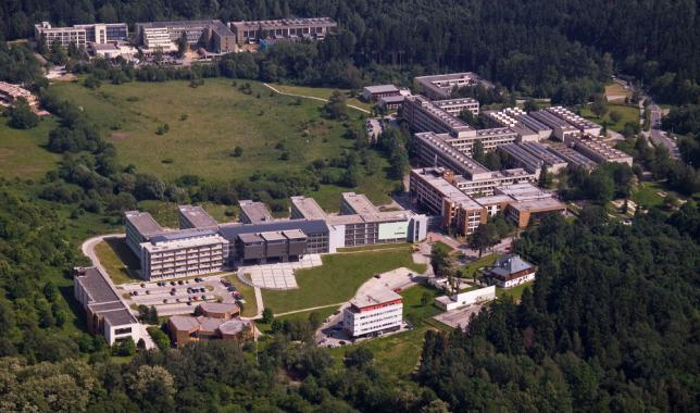 Areál Žilinskej univerzity - letecký pohľad