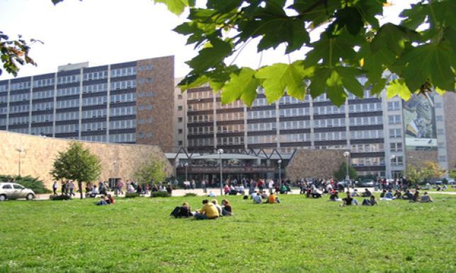 Budova rektorátu, fakulty FHI, FPM, FAJ a FMV Ekonomickej univerzity
